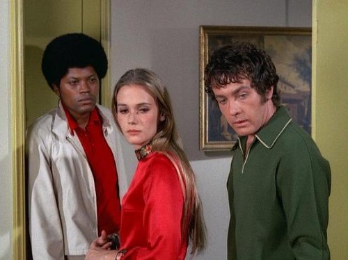 "Clarence Williams III, Peggy Lipton & Michael Cole in ""The Mod Squad."""